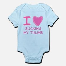 I Heart (Love) Sucking My Thu Infant Bodysuit