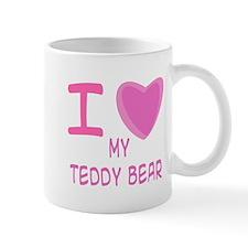 Pink I Heart (Love) My Teddy Mug