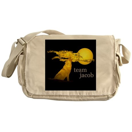 Team Jacob - Black Messenger Bag