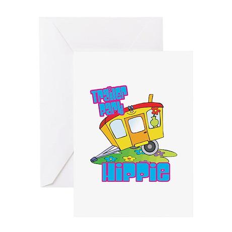 Trailer Park Hippie Greeting Card