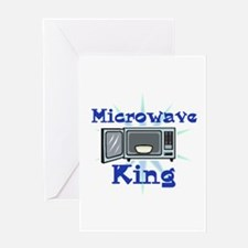 Microwave King Design Greeting Card