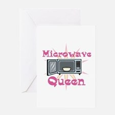 Microwave Queen Greeting Card