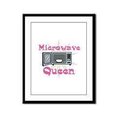 Microwave Queen Framed Panel Print