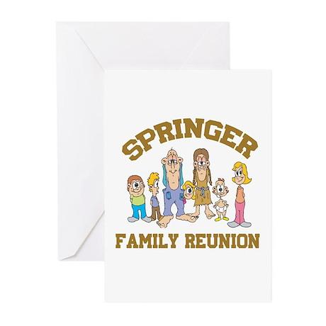 Springer Hillbilly Family Reu Greeting Cards (Pk o