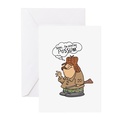 Redneck Possum' Hunter Greeting Cards (Pk of 20)