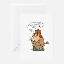 Redneck Possum' Hunter Greeting Cards (Pk of 20)