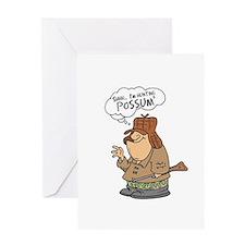 Redneck Possum' Hunter Greeting Card
