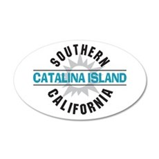 Catalina Island California 22x14 Oval Wall Peel