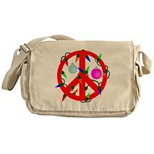 Peace For Christmas Red Messenger Bag
