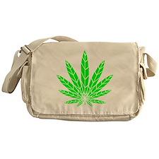 Green Leaf Messenger Bag