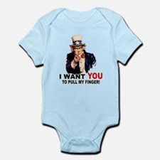 Want You To Pull My Finger Infant Bodysuit
