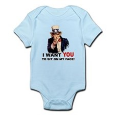 Want You to Sit On My Face Infant Bodysuit