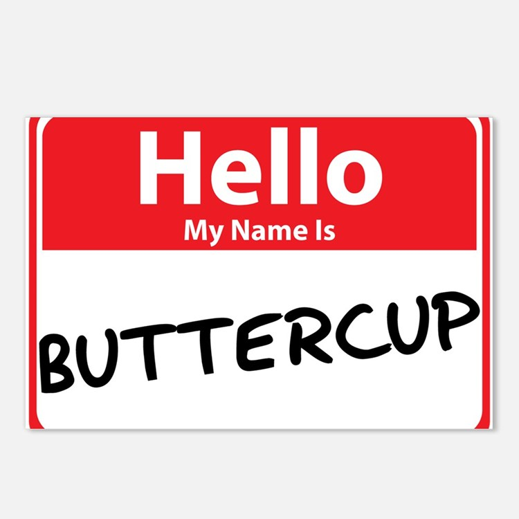 Hello My Name is Buttercup Postcards (Package of 8