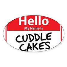 Hello My Name is Cuddle Cakes Decal