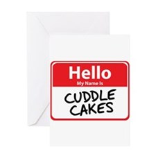 Hello My Name is Cuddle Cakes Greeting Card