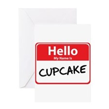 Hello My Name is Cupcake Greeting Card
