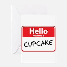 Hello My Name is Cupcake Greeting Card