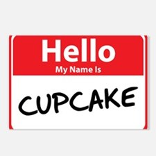Hello My Name is Cupcake Postcards (Package of 8)