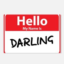 Hello My Name is Darling Postcards (Package of 8)