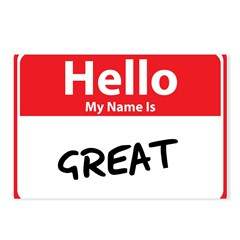 Hello My Name is Great Postcards (Package of 8)