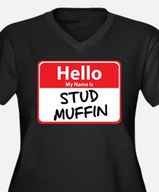 Hello My Name is Stud Muffin Women's Plus Size V-N