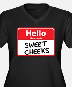 Hello My Name is Sweet Cheeks Women's Plus Size V-