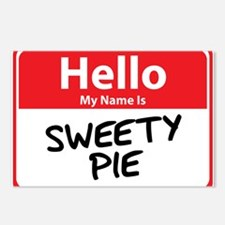 Hello My Name is Sweety Pie Postcards (Package of