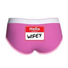 Hello My Name is Wifey Women's Boy Brief