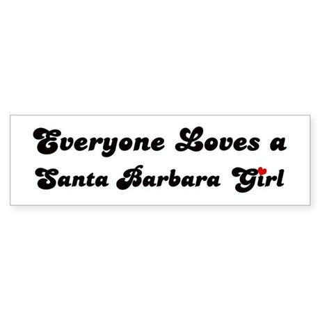 Loves Santa Barbara Girl Bumper Sticker
