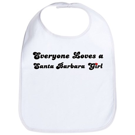 Loves Santa Barbara Girl Bib