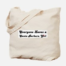 Loves Santa Barbara Girl Tote Bag
