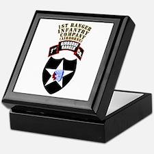 SOF - 1st Ranger Infantry Co - Abn Keepsake Box