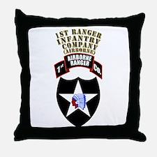 SOF - 1st Ranger Infantry Co - Abn Throw Pillow