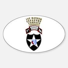 SOF - 1st Ranger Infantry Co - Abn Sticker (Oval)