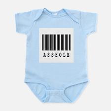Asshole Barcode Design Infant Bodysuit