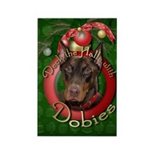 Christmas - Deck the Halls - Rectangle Magnet