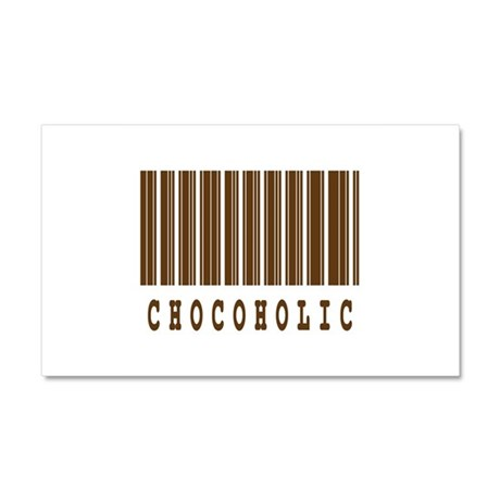 Chocoholic Barcode Design Car Magnet 20 x 12