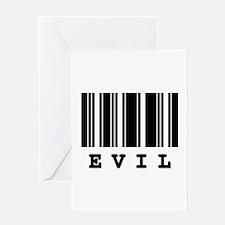 Evil Barcode Design Greeting Card