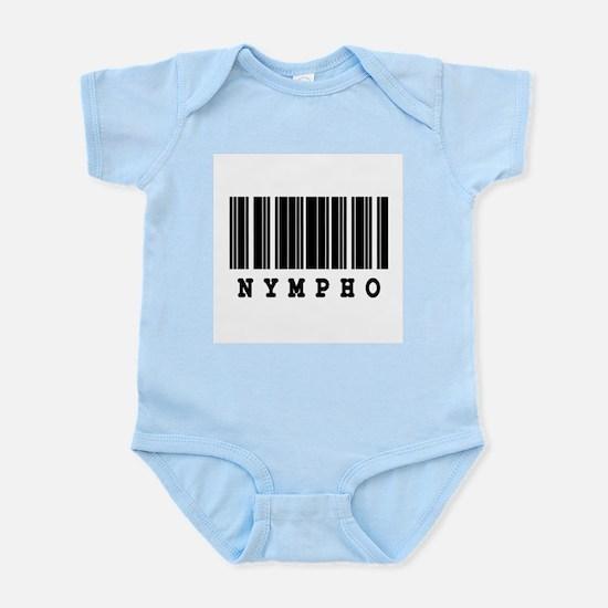 Nympho Barcode Design Infant Bodysuit