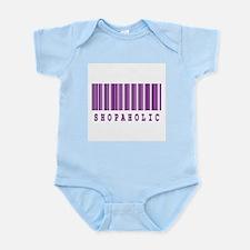 Shopaholic Barcode Design Infant Bodysuit