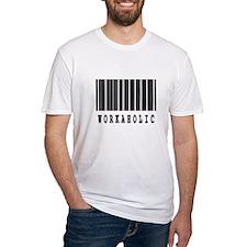 Workaholic Barcode Design Shirt