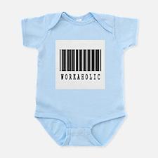 Workaholic Barcode Design Infant Bodysuit
