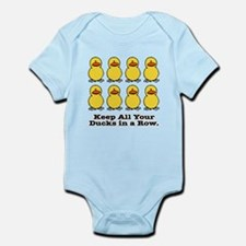 Ducks in a Row Infant Bodysuit