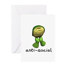 Funny Anti-Social Turtle Greeting Card
