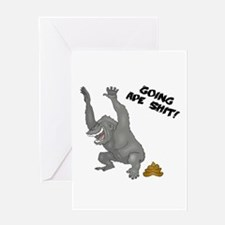 Going Ape Shit Greeting Card