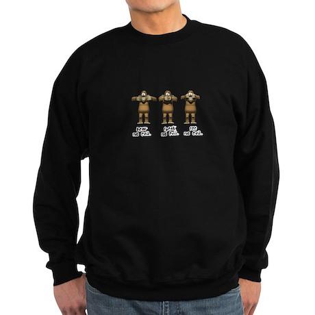 Hear No Evil Monkeys Sweatshirt (dark)