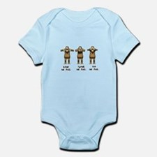 Hear No Evil Monkeys Infant Bodysuit