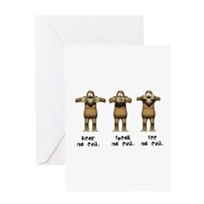 Hear No Evil Monkeys Greeting Card