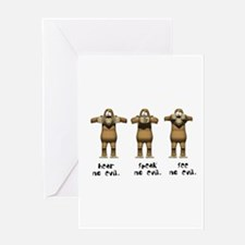 Hear No Evil Monkeys Greeting Card