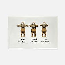Hear No Evil Monkeys Rectangle Magnet (100 pack)